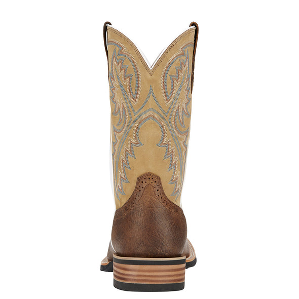 Ariat Men's Quickdraw Tumbled Bark / Beige heel