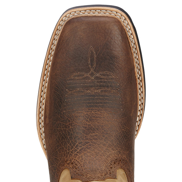 Ariat Men's Quickdraw Tumbled Bark / Beige toe