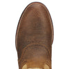 Ariat Men's Heritage Stockman Tumbled Brown Beige toe