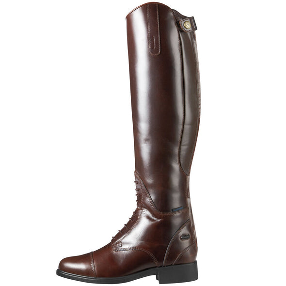 Women's Bromont Tall H2O waxed Chocolate 10008696 Ariat side
