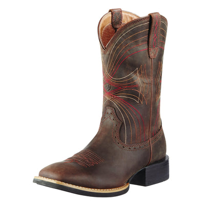 Ariat Men's Sport Wide Square Toe Distressed Brown 10010963