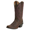 Round Up Square Toe Powder Brown 10014172