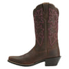 Round Up Square Toe Powder Brown side