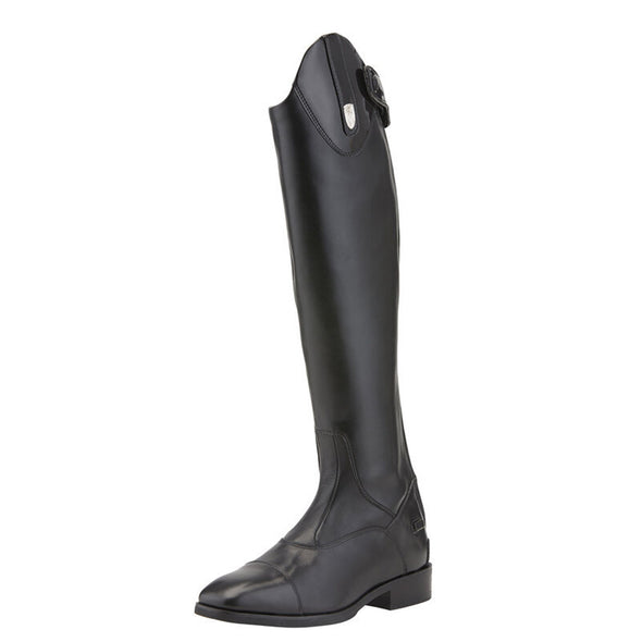 Women's Monaco Stretch Zip Tall Riding Boots in Black Patent 10014381 Ariat