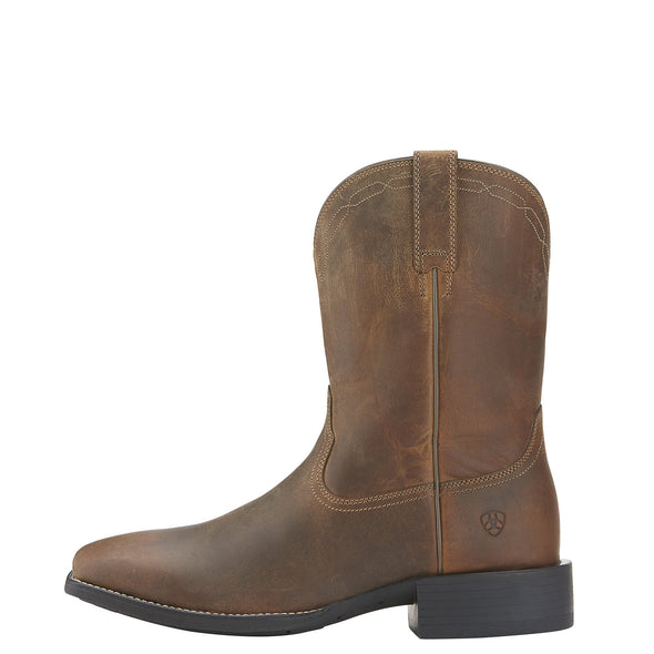 Ariat Men's Heritage Roper Wide Square Toe Brown side