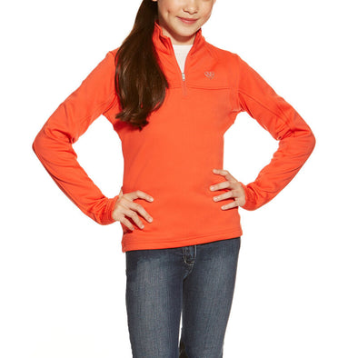Ariat Conquest 1/4 Zip Red Coral 10015705