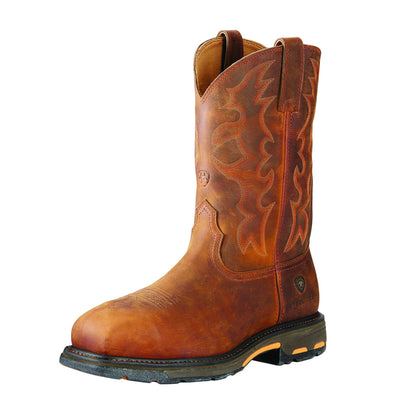 Ariat Men's Workhog® Wide Square Toe Steel Toe Toast Premium 10016568