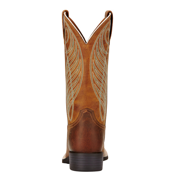 Ariat Women's Round Up Wide Square Toe Powder Brown 10018528 heel