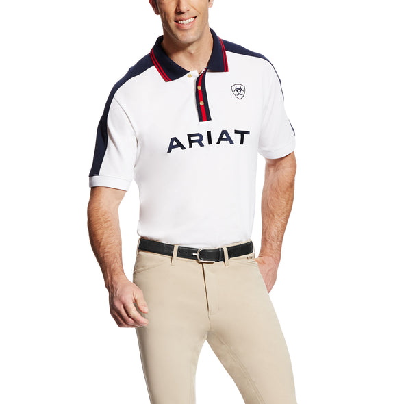 Ariat Men's New Team Polo White 10019278