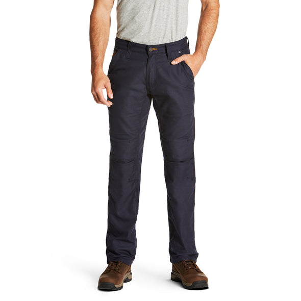 Rebar M4 Low Rise Workhorse Canvas Boot Cut Pants in Navy Blue, 10019564 Ariat