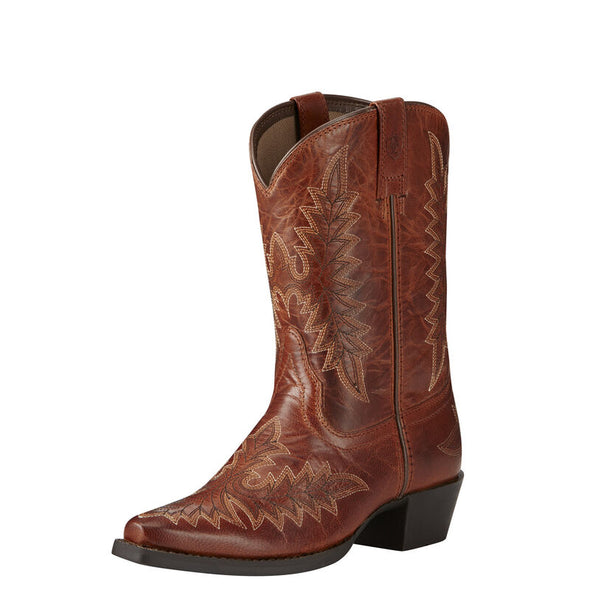Kid's Brooklyn Western Boots in Two Tone Tan 10019916 Ariat
