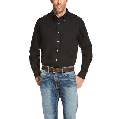 Ariat Men's Wrinkle Free Solid Shirt Black 10020328