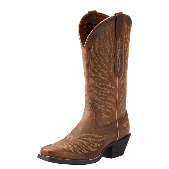 Women's Round Up Phoenix Western Boots in Rodeo Tan 10021584 Ariat