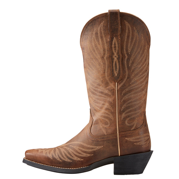 Women's Round Up Phoenix Western Boots in Rodeo Tan 10021584 Ariat side