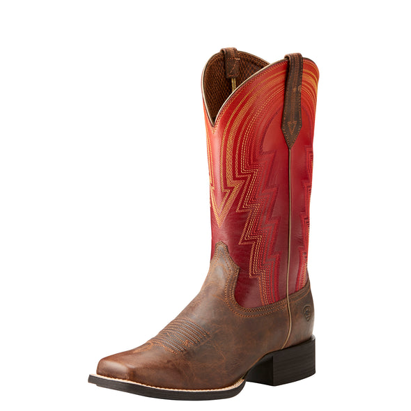 Women's Round Up Waylon Western Boots in Rodeo Tan 10021587 Ariat