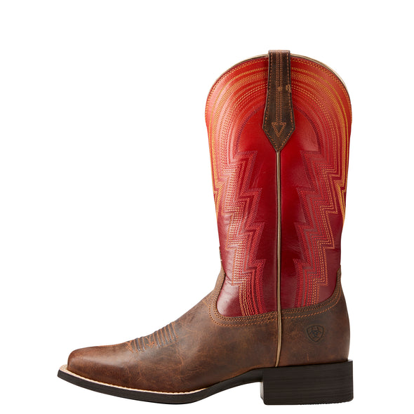 Women's Round Up Waylon Western Boots in Rodeo Tan 10021587 Ariat side