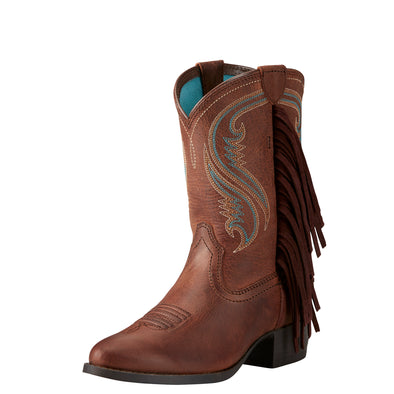 Kid's Fancy Western Boots in Sassy Chocolate 10021599 Ariat