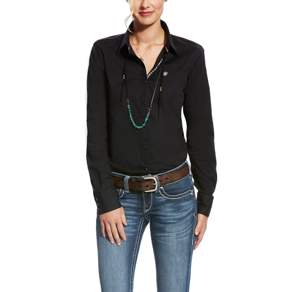 Ariat Women's Kirby Stretch Shirt Black 10022056