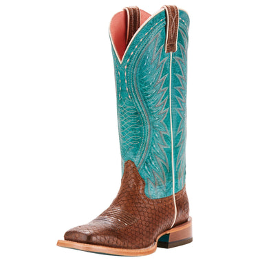 Ariat Women's Vaquera Diamondback Tan / Topaz Turquoise 10025044