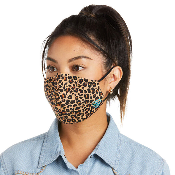 Women's Western Fashion Mask  Cheetah Cotton by Ariat 10036705