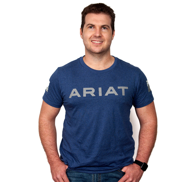 Ariat Men's Patriot T-Shirt Heather Blue 90001001