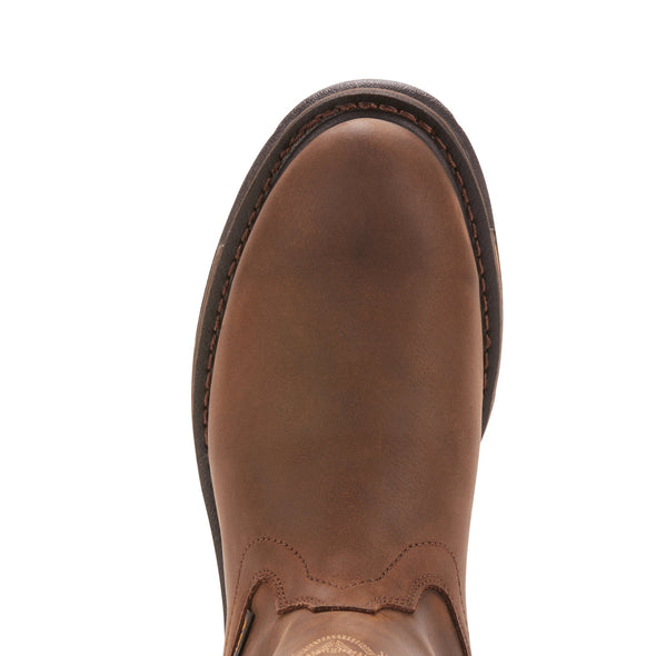Ariat Men's Workhog® Pull-on H2O Oily Distressed Brown toe