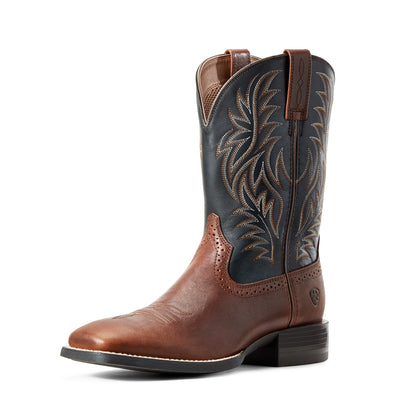 Ariat Men's Sport Western Wide Square Toe Cognac Candy / Black 10029755