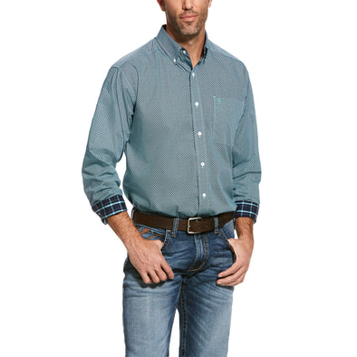 Men's Wrinkle Free Waldmiller Classic Fit Shirt in Watershed Cotton, 10028037 Ariat