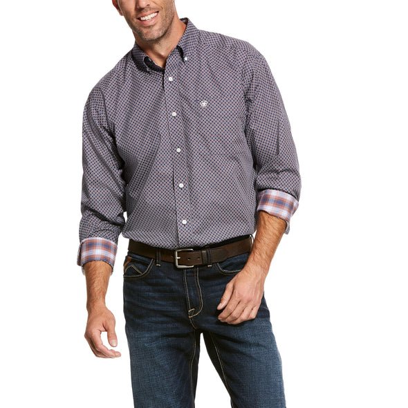 Men's Wrinkle Free Valker Classic Fit Shirt Cotton, 10028079 Ariat