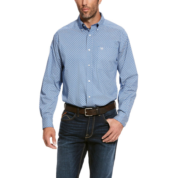 Men's Uchino Stretch Classic Fit Shirt in Bright Cobalt Cotton, 10028095 Ariat