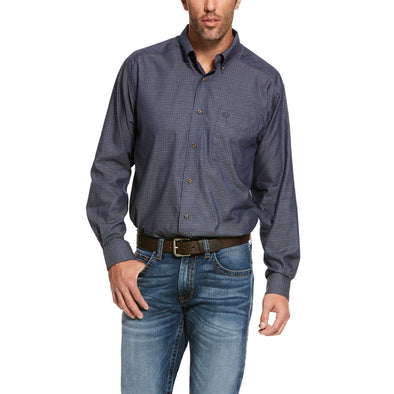 Men's Searson Classic Fit Shirt in Nigh Sky Cotton, 10028227 Ariat