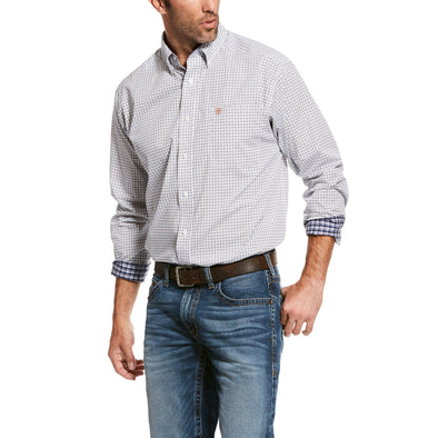 Men's Wrinkle Free Verner Classic Fit Shirt in White Cotton, 10028296 Ariat