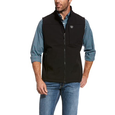 Men's Logo Softshell 2.0 Vest in Black, 10028321 Ariat