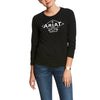 Women's Tile Logo Tee Shirt in Black, 10028059 Ariat