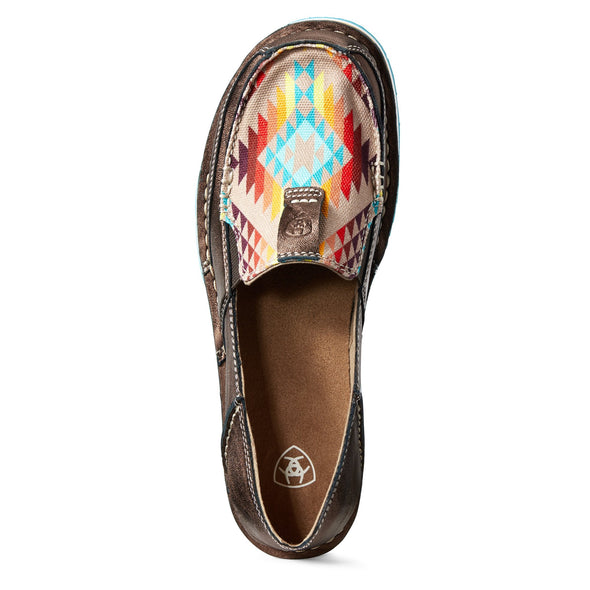 Ariat Women's Cruiser Copper Metallic / Rainbow Aztec 10029744 toe
