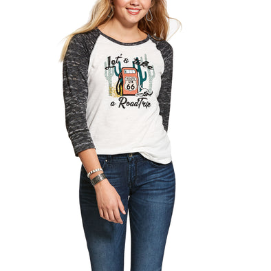 Women's Roadtrip Shirt in Snow White, 10028282 Ariat
