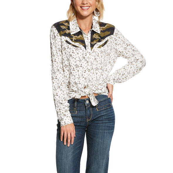 Women's Buckaroo Babe Shirt in Buckaroo Print, 10028378 Ariat
