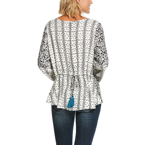 Women's Camilla Tunic Top in Multi Print, 10028379 Ariat back