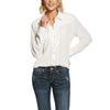 Women's Ride Um Shirt in Snow White, 10028390 Ariat