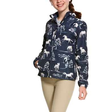 Kid's Laurel Jacket Fleece in Shadow Pasture Print, 10028361 Ariat