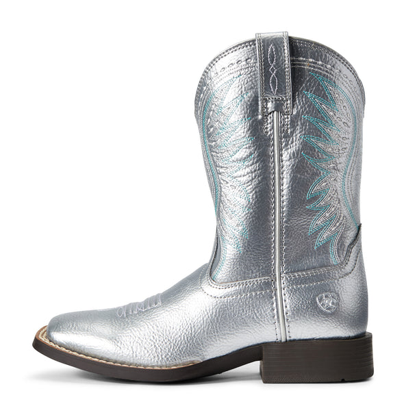 Ariat Girls Rodeo Jane Shining Silver 10029769 side