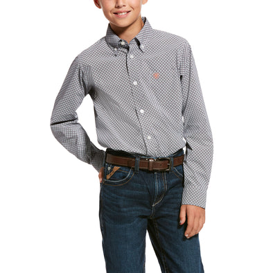 Kid's Urway Stretch Classic Fit Shirt Cotton, 10028159 Ariat