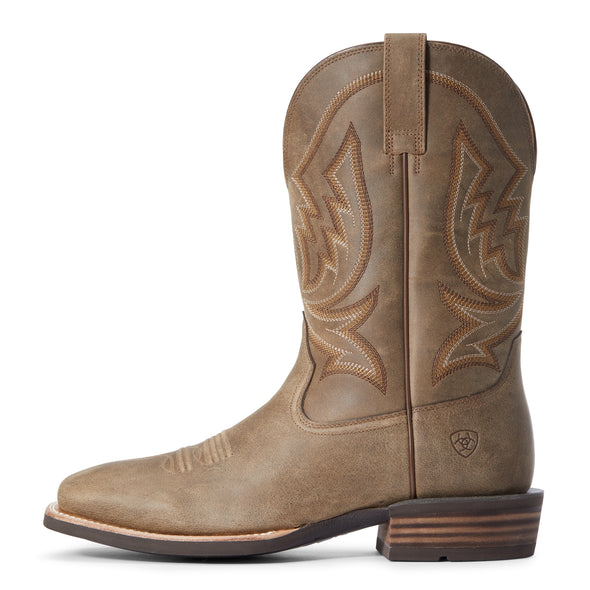 Men's Hardy Western Boots in Brown Bomber 10033895 Ariat side
