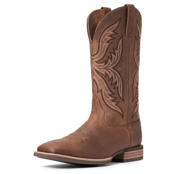 Men's Everlite Fast Time Western Boots in Distressed Brown 10033908 Ariat