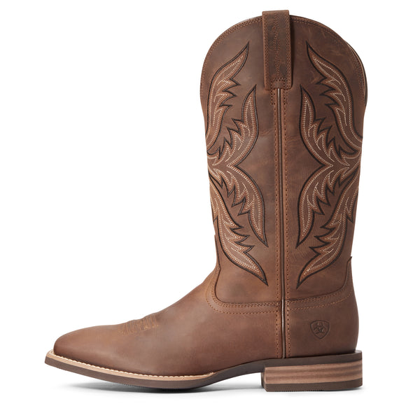 Men's Everlite Fast Time Western Boots in Distressed Brown 10033908 Ariat side