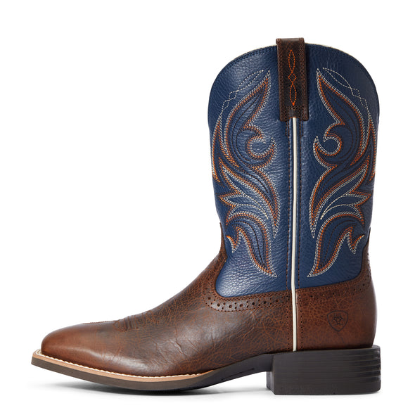 Men's Sport Knockout Western Boots in Dark Whiskey 10033981 Ariat side