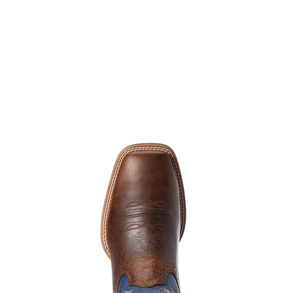 Men's Sport Knockout Western Boots in Dark Whiskey 10033981 Ariat Toe
