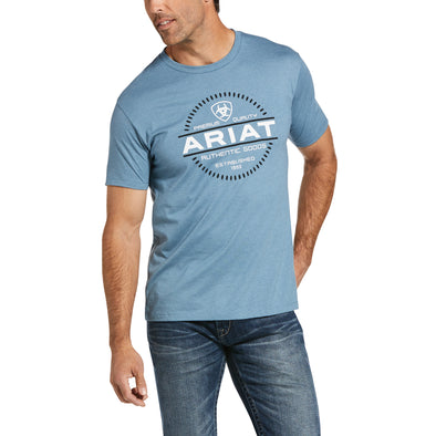 Men's Incremental T-Shirt in Denim Blue Heather 10033350 Ariat