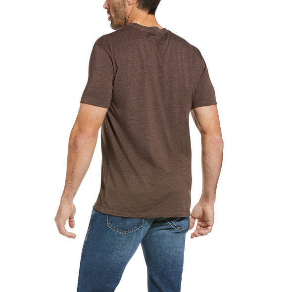 Men's Ariat Native Angles T-Shirt in Brown Heather 10034361 back