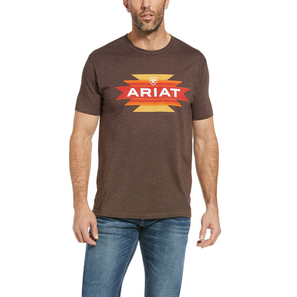 Men's Ariat Native Angles T-Shirt in Brown Heather 10034361